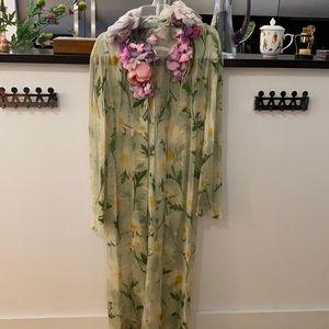 Dolce & Gabbana Silk Floral Dress 40